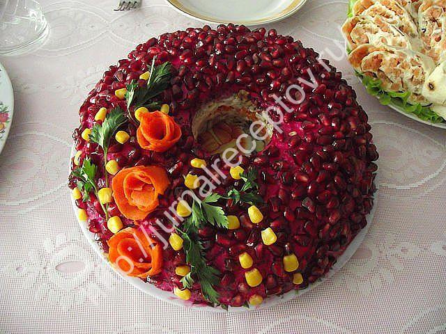 салат Гранатовый браслет рецепт
