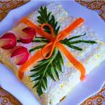 салат с курицей и ананасами фото
