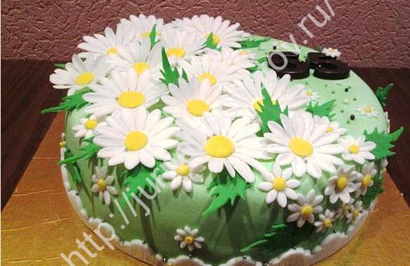 Торт из мастики своими руками с цветами