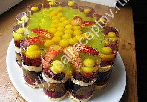 Желейный торт рецепт