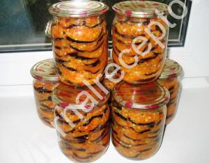 закуска из баклажанов в чесночном маринаде рецепт с фото