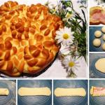 Пирог Цветы фото