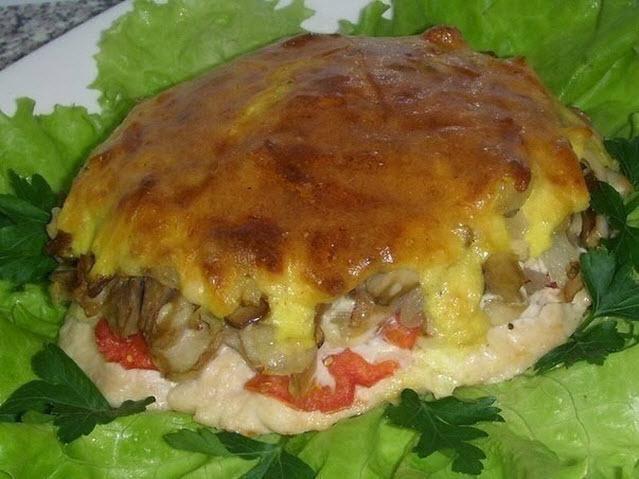 Мясо с грибами фото