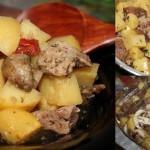 Мясо с картофелем в рукаве