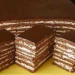 Торт медово шоколадно ореховый