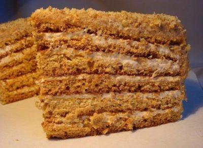 Торт с вареной сгущенкой