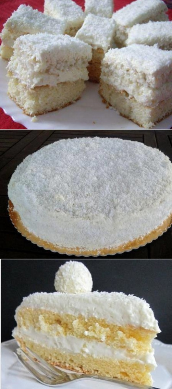 Торт «Рафаэлло» по-быстрому. Очень просто и очень вкусно