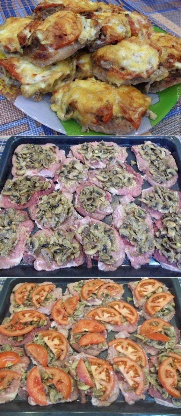 Французские отбивные из свинины в духовке