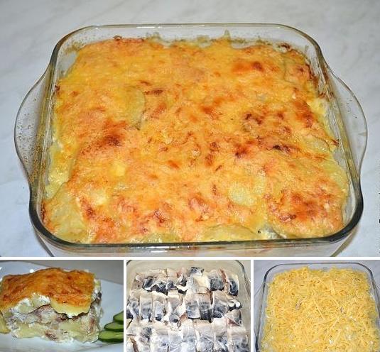 Картофельная запеканка со скумбрией буквально улетает со стола!