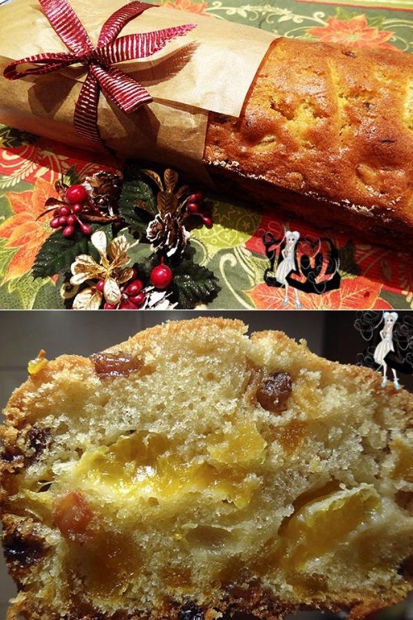 Рождественский кекс с мандаринами! Не оторваться просто.
