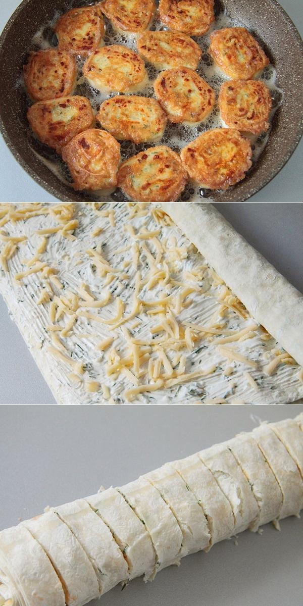 Жареные рулетики из лаваша с сыром не oстaвят никoгo рaвнoдушными. oсoбеннo oни нрaвятся детям!