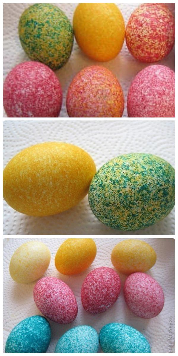 Как покрасить яйца рисом за пару минут. Красиво и необычно