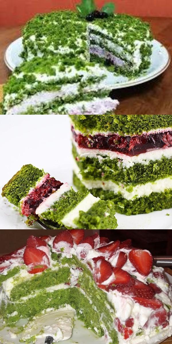 Новый торт из шпината – хочется съесть весь, до чего же вкусный.