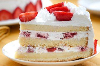 Бисквитный торт с клубникой - летний хит