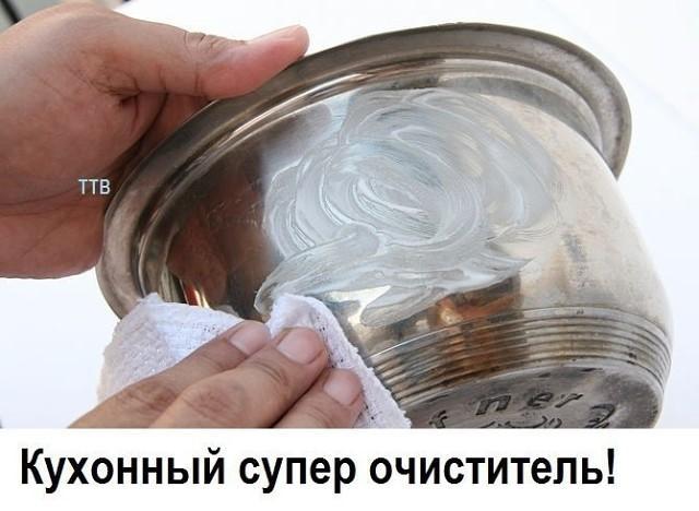 Как сделать самый лучший кухонный очиститель. Чистит всё до блеска!