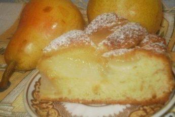 Пирог с грушами на дрожжевом «пушистом» тесте