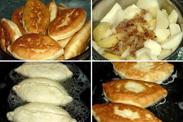 Вкусные пирожки с картошкой с аппетитной золотистой корочкой.