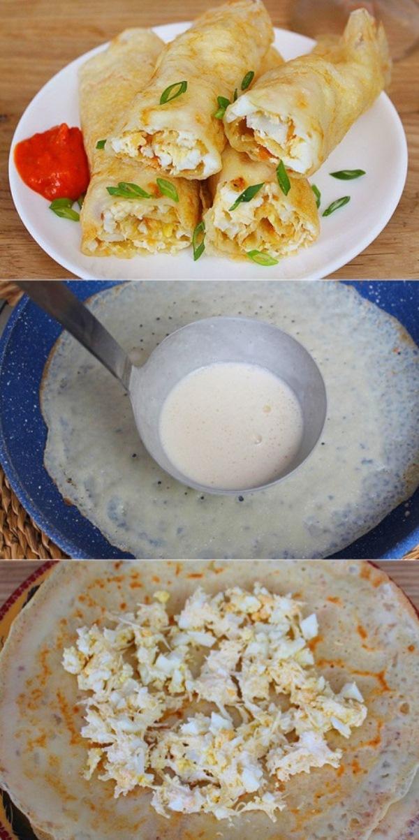 Тонкие блинчики с яйцом и сыром из минимума продуктов готовлю буквально за 10 минут, моих деток не оторвать! Очень вкусно!