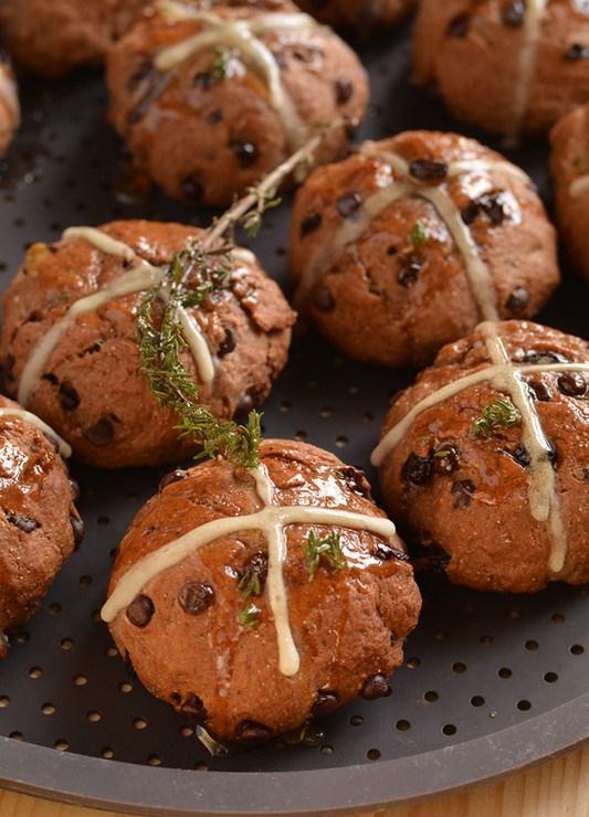 Крестовые булочки с шоколадом  Как мне повезло попробовать этот шедевр! Непременно буду печь еще не раз!