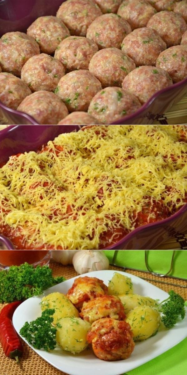 Тефтельки с сыром и зеленью