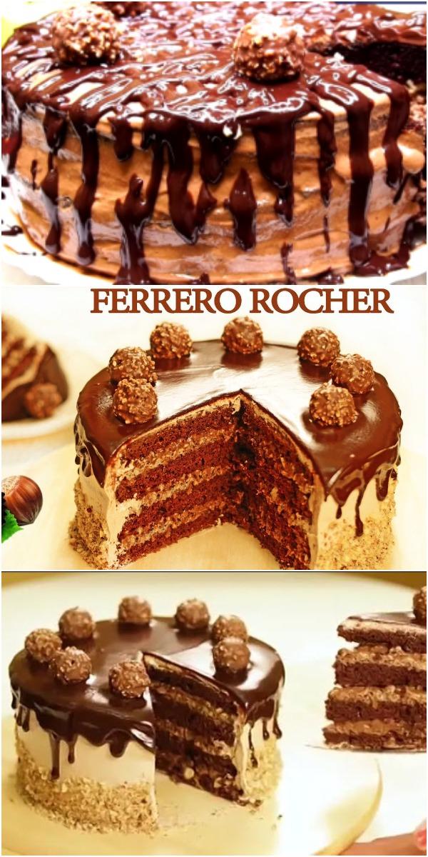 Торт «Ферреро Роше»  – выпечка к которой вы будете возвращаться раз за разом!