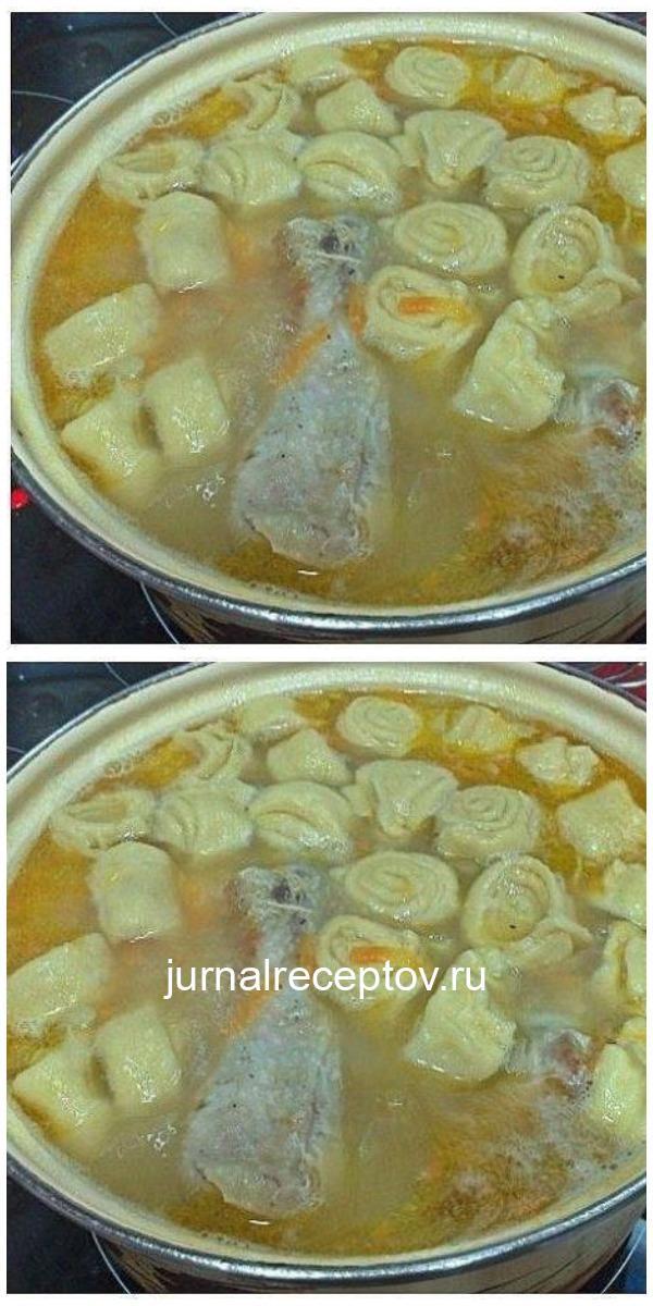 Невероятно вкусный куриный суп с чесночными рулетиками - муж без ума от него