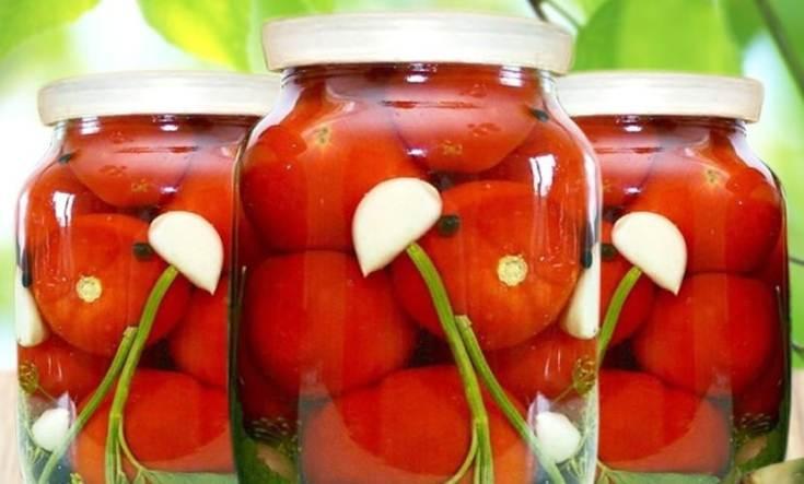 Консервированные помидоры с медом и чесноком