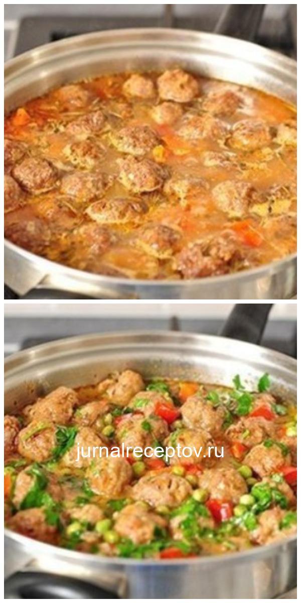 Обалденно вкусное овощное рагу с фрикадельками