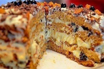 Рецепт простого, но очень вкусного торта «Трухлявый пень» 1