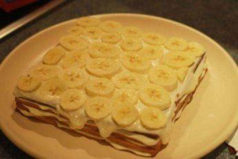 Рецепт вкуснейшего торта с бананами без выпечки за 15 минут 1