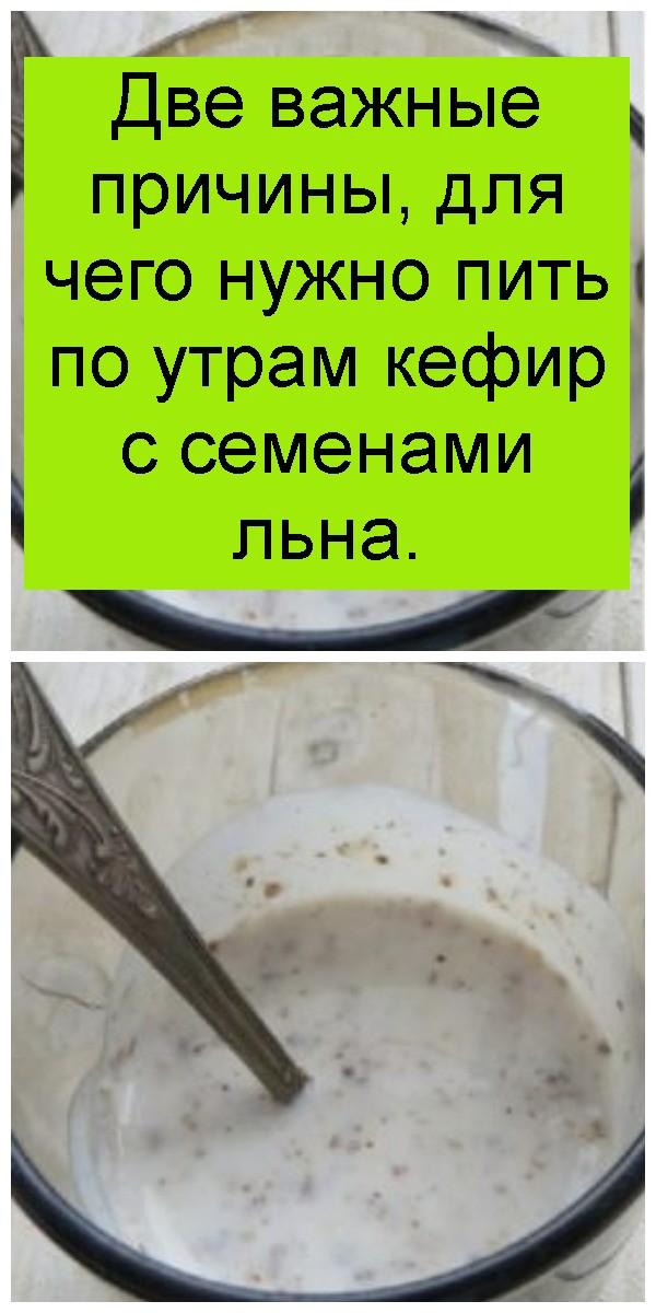 Две важные причины, для чего нужно пить по утрам кефир с семенами льна 4